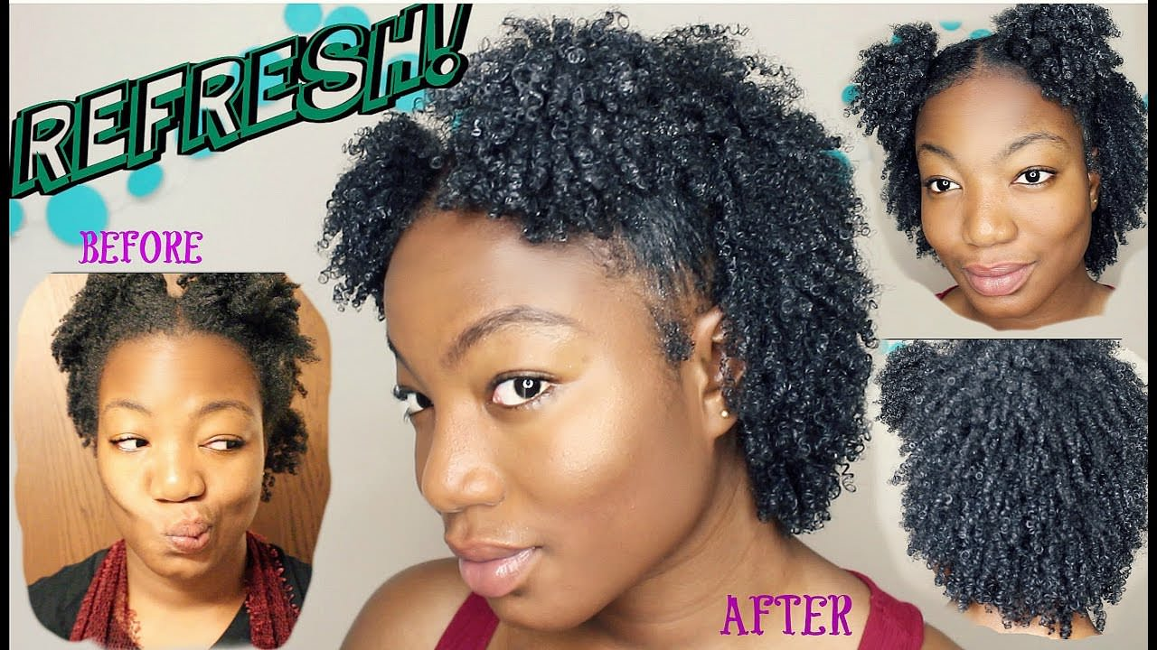 How To REFRESH Your Wash 'n Go Without Gel
