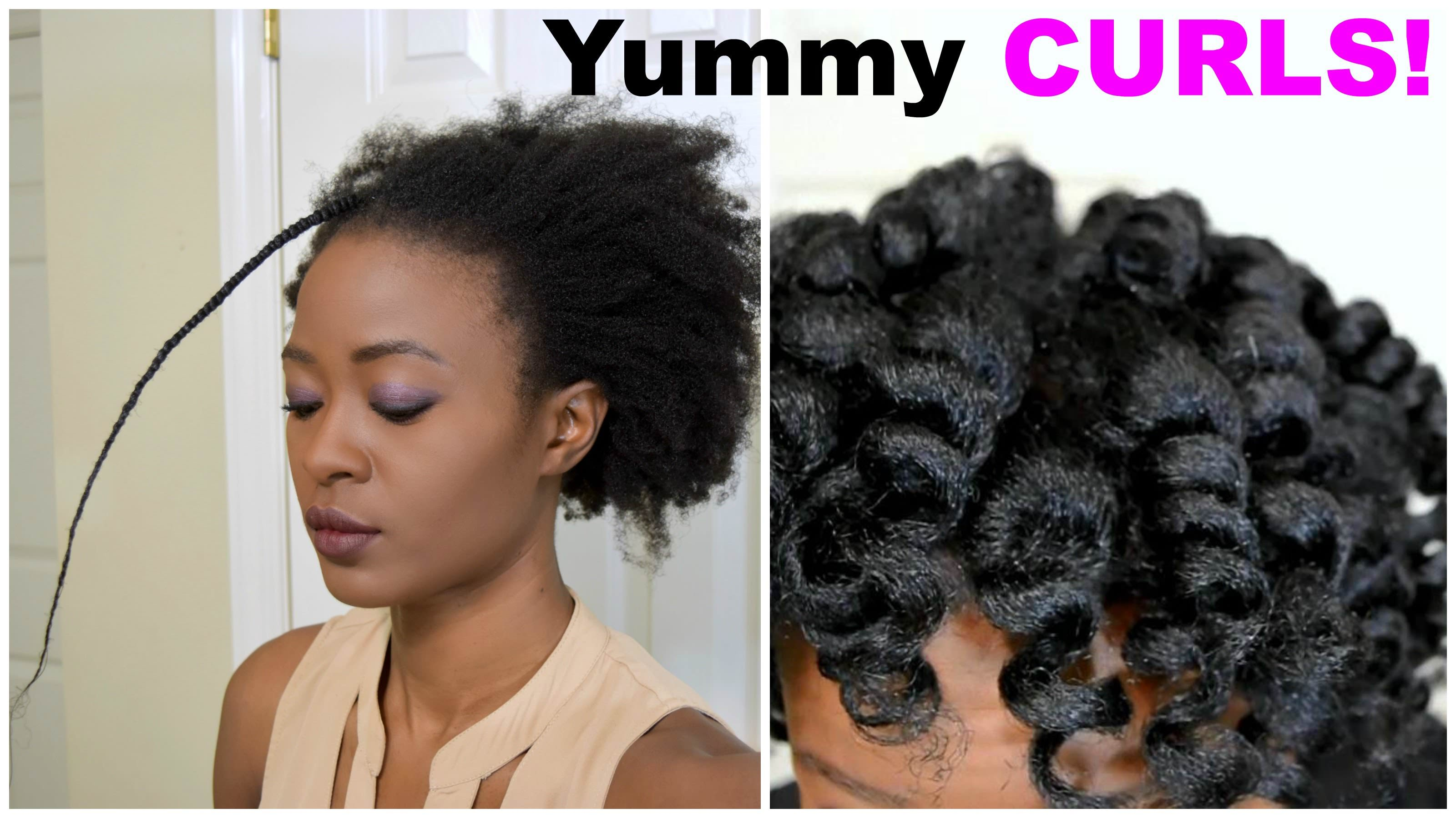 Yummy Heatless Curls On 4c Natural Hair Luxe Organix