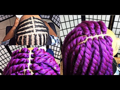 170 Perfect Middle Part Pattern Lilac Goddess Twist Video