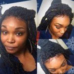 lace front double strand twist wig