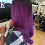 Yass purple ombre by @hautehairbylauren