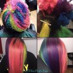 Creative rainbow hair @missprettynish