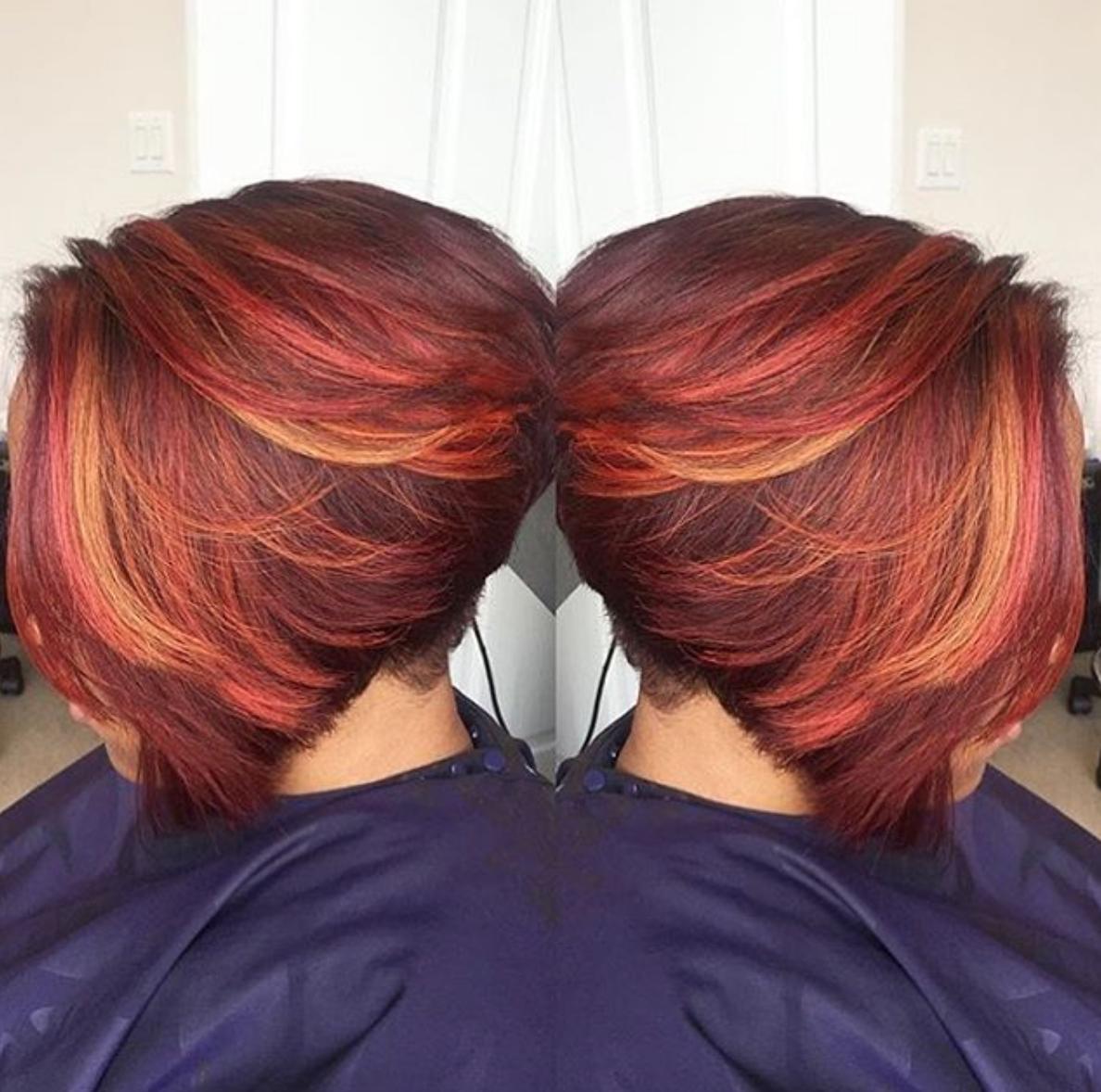 Nice Color Blend Via Mochadumore Black Hair Information