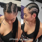 Flawless braids by @braids_by_twosisters
