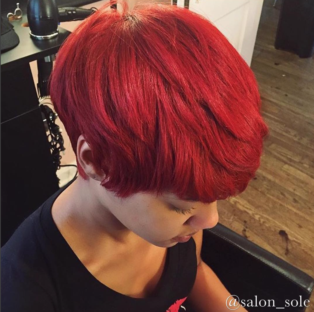 Gorgeous cut and color by salon sole black hair information for Salon solde