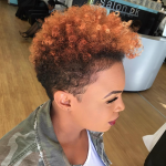 Loving this golden top tapered fro by @pekelariley