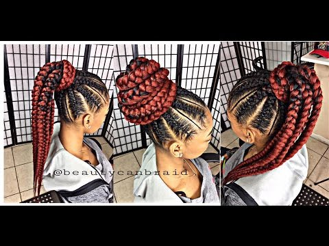 feed in ponytail video black hair information