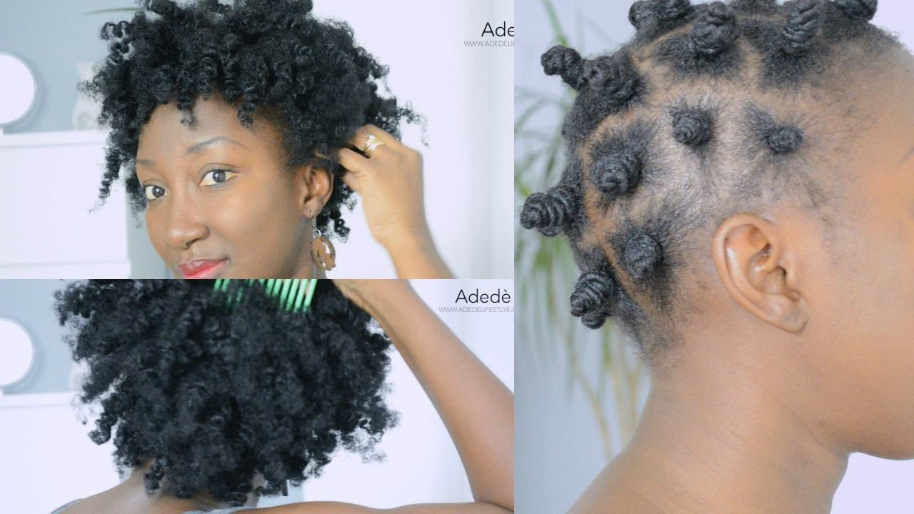 Bantu Knot Out Long Natural Hair