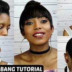 How To Faux Bun With Bang Tutorial On Short Natural Hair NO GLUE NO SEW [Video]