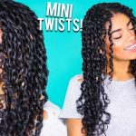 How To: Mini Twists – Curly Natural Hair [Video]