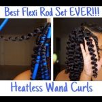 Natural Hair Flexi Rod Set l Heatless Wand Curls [Video]