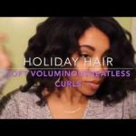 Soft Voluminous Heatless Curls | Holiday Hair [Video]