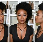 3 Kinky Hairstyles : Space Buns, Mohawk & Side Puff [Video]