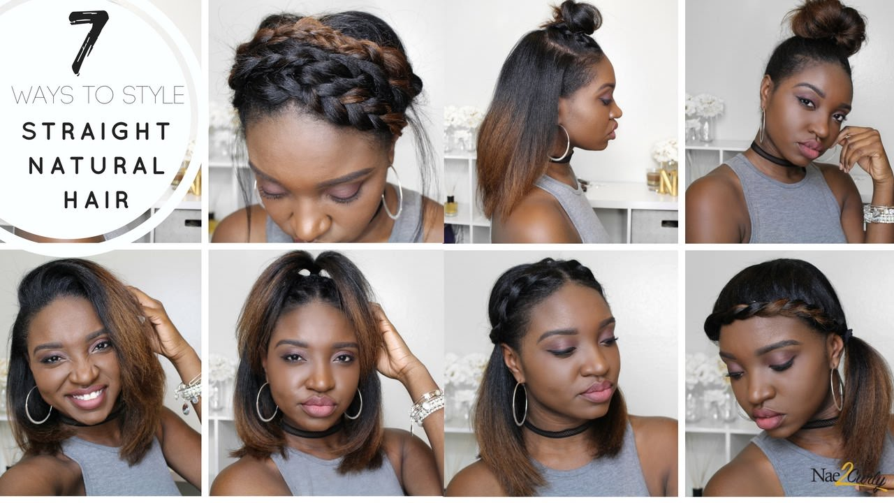 7 Styles for Straight Natural Hair [Video]   Black Hair ...