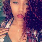 Crochet braids  Burgundy color Freetress hair: go-go curl