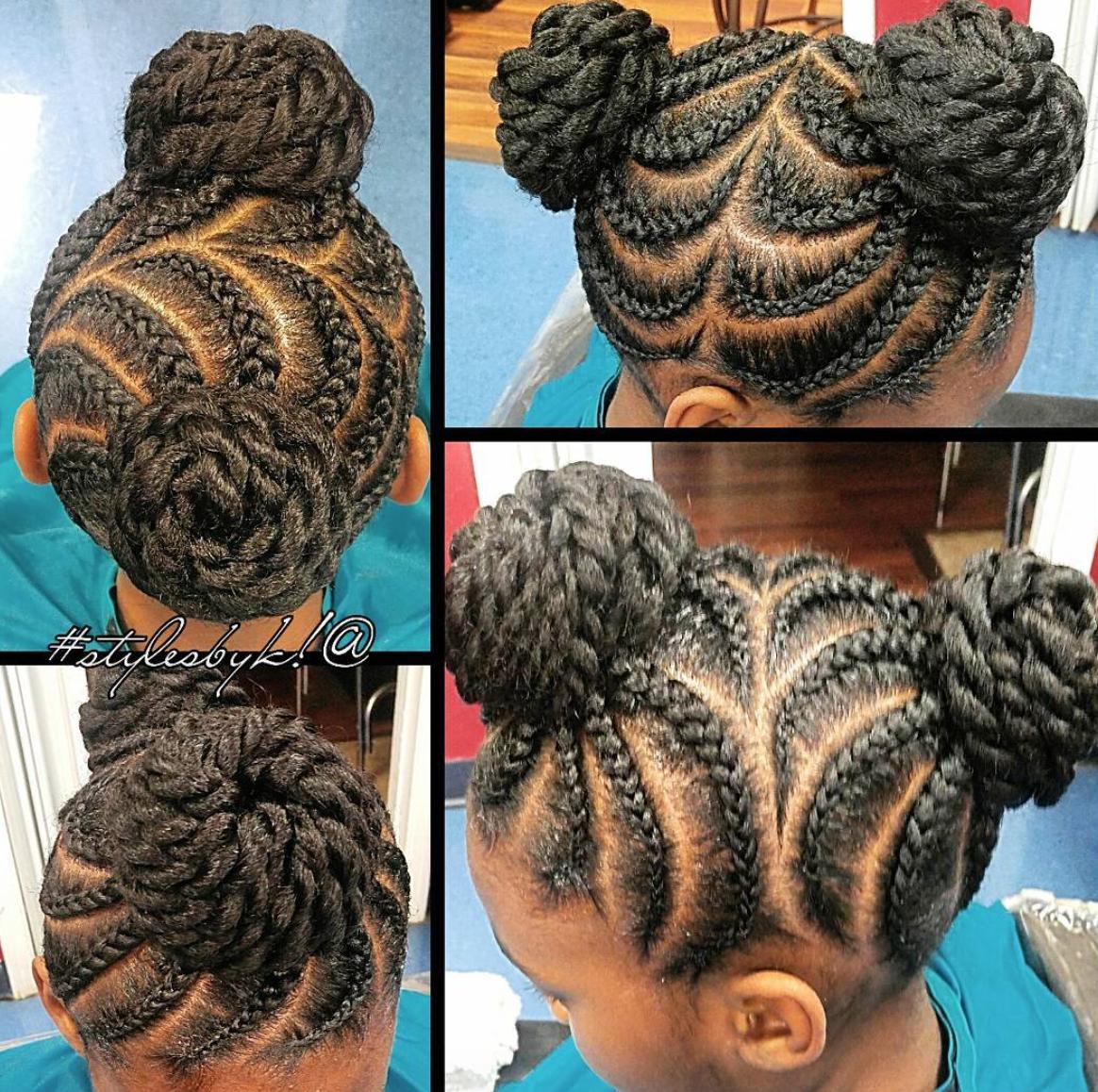 Easy Natural Hair Styles For Little Girls