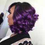 Gorgeous purple via @khromahairstudio