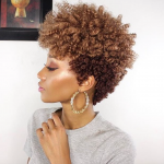 Love her tapered curly fro @modelesque_nic
