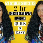 BOHEMIAN LOCS IN 2 HRS! Easy DIY Faux Goddess Boho Locs [Video]