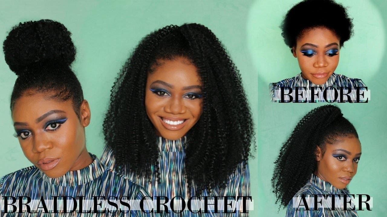 Braidless Crochet Short Natural Hair 4 Styles MotownTress 3x