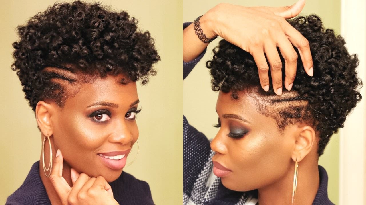 Double Braided Parts On Tapered Natural Hair