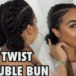 FOR WORK + SCHOOL + GYM Flat Twists with Bun Hairstyle! [Video]