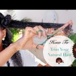 How I Trim My Natural Hair ????????????????| Reduce Shedding & Tangling #CurlyGirlMethod [Video]
