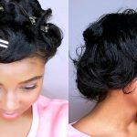 How To Style SHORT Relaxed Hair | PIN CURLS TUTORIAL | Heatless Curls. [Video]