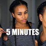 Kinky Curly Natural Hair Clip-in Cornrows ➟ in 5 MINUTES! [Video]