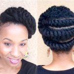 Natural Hair| Flattwist Updo/Protective style [Video]