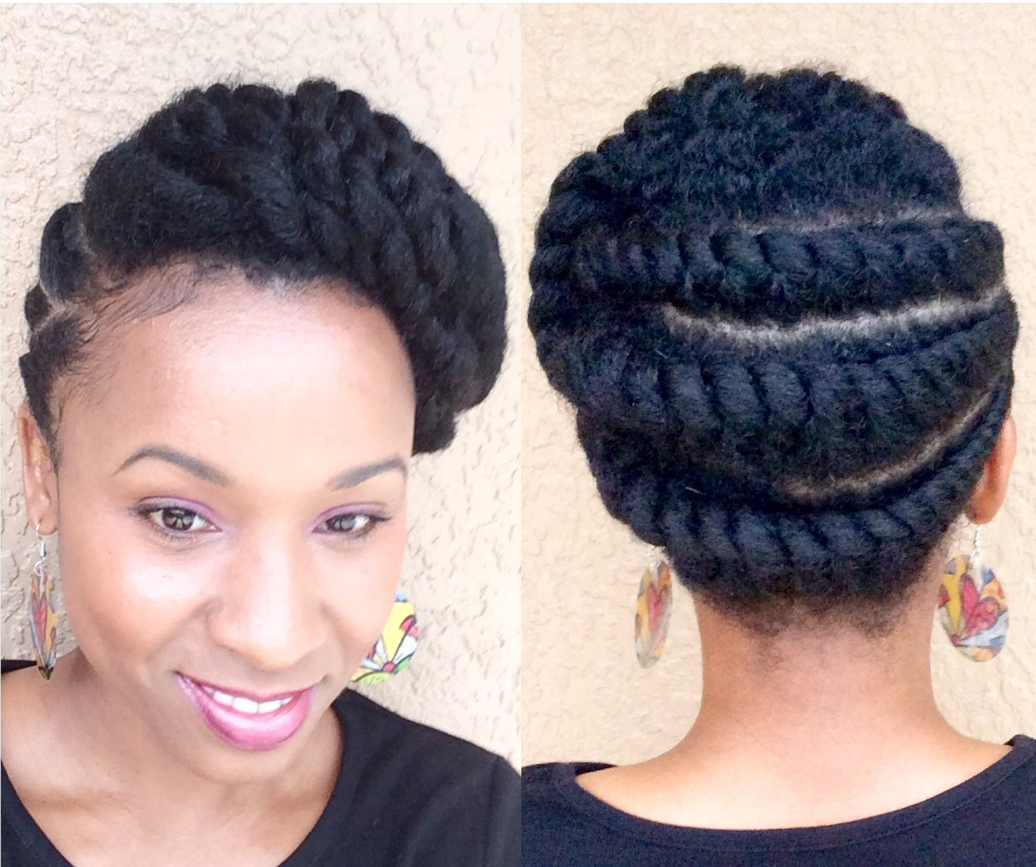 Natural Hair Flattwist Updo Protective Style Video Black Hair Information
