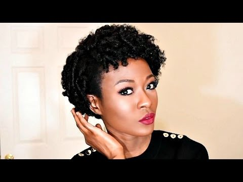 Small Perm Rod Set On 4c Natural Hair Faux Twa Video Black
