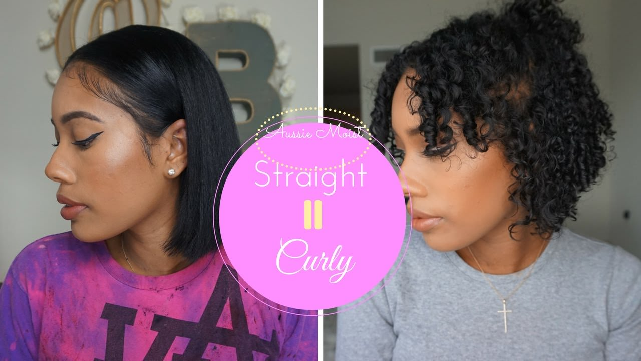 Straight To Curly Routine Aussie Moist Video Black