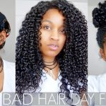 "3 Quick +Easy Protective Hair Styles for ""Bad Hair Day"" on Natural Hair (ALL HAIR TYPES) [Video]"