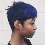 Fierce blue via @salonchristol