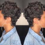 Classy curly pixie via @msklarie