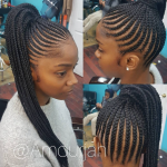Flawless braided pony via @amourjah