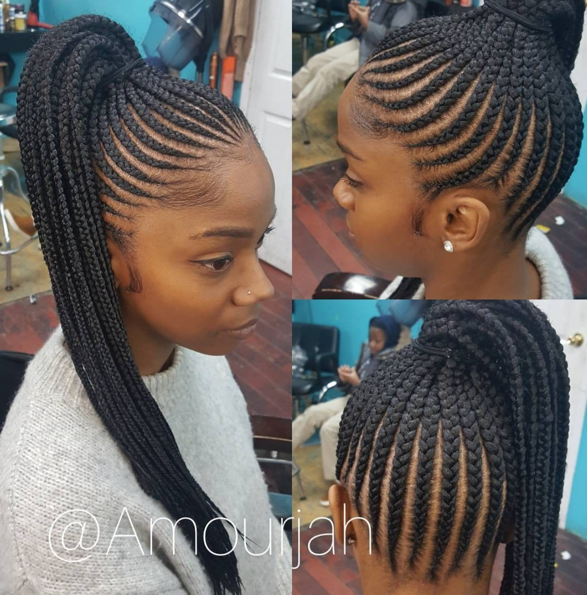 Braid Hairstyles: Flawless Braided Pony Via @amourjah