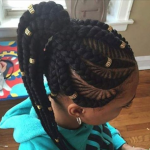 Dope braid pattern and accents by @narahairbraiding