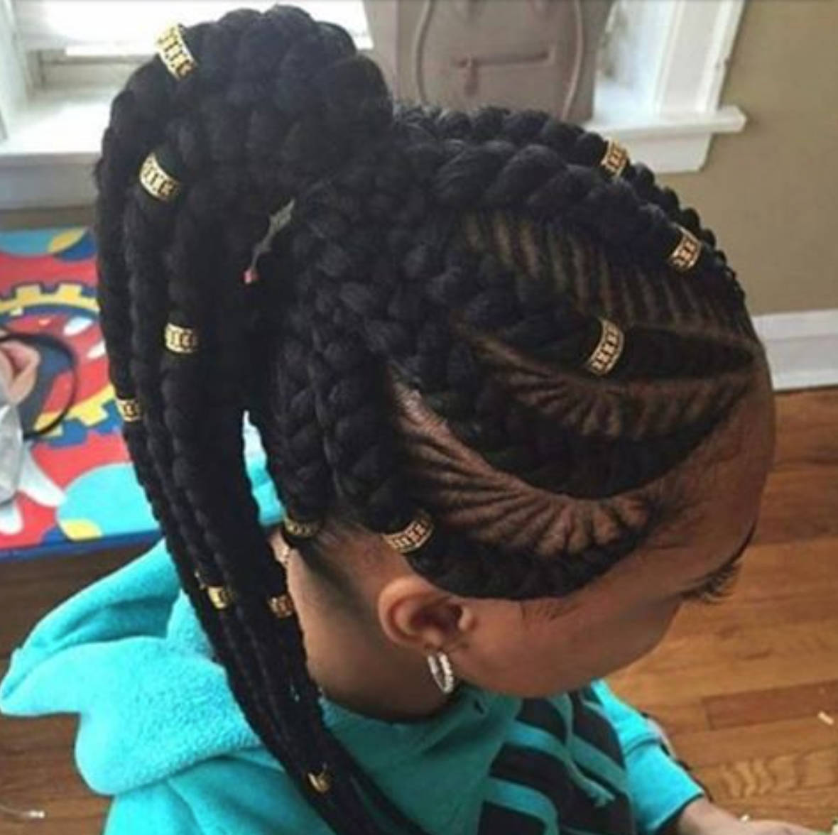 Braid Hairstyles For Black Girls: Dope Braid Pattern And Accents By @narahairbraiding