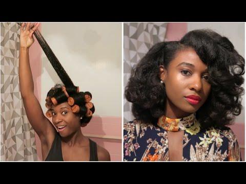 Big Curls W Jumbo Perm Rods Black Hair Information