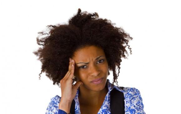 black woman confused