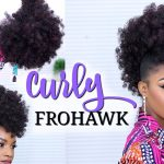 Faux Hawk Using a Drawstring Ponytail | How to Do a Curly Frohawk [Video]