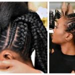 Feed In Stitch Braids Bun With Pre-Stretched Hair – Very Affordable [Video]