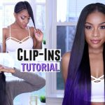 How to Clip in Hair Extensions on Short or Natural Hair + Custom Purple Color [Video]