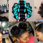 HOW TO ROLLER SET HAIR | Roller Setting Tutorial 2017 | RELAXED HAIR [Video]