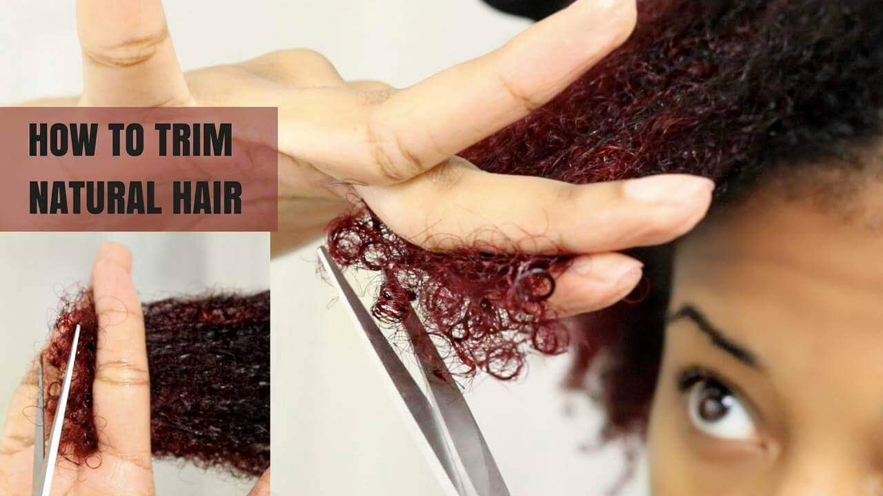Trimming Natural Hair At Home