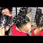 #iamglamfreak inspired UPSIDE DOWN GLAM BRAIDS INTO BUNS [Video]