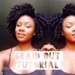 Natural Hair Braid Out Tutorial [Video]