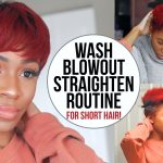 Wash, Blow Dry and Flat Iron Routine for Short Natural Hair (TWA/Pixie Cut)! [Video]